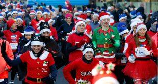 Više od dvije tisuće kostimiranih trkača i hodača sudjelovalo u Zagreb Advent Runu